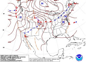 Friday September 23, 2016 Surface Map