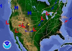 Tuesday September 13, 2016 Forecast Map