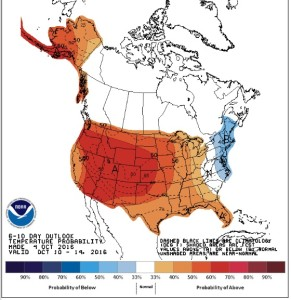 CPC 6 - 10 Temperature Outlook Valid October 10 - 14