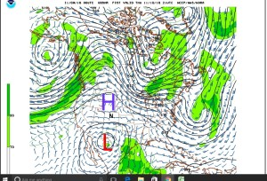 Upper Level Winds and Storms, Thursday, November 10th, 2016