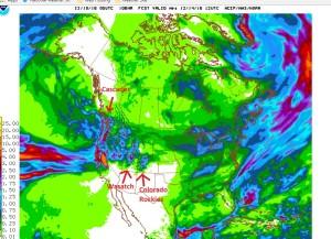GFS Precipitation Forecast, Saturday 12/9 - Wednesday, 12/14