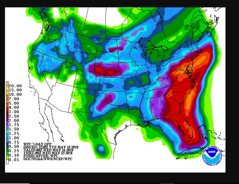 May 15 - 23 Forecast Precipitation