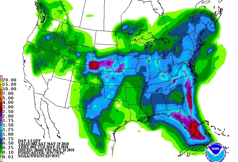 QPF Through Monday, May 21st